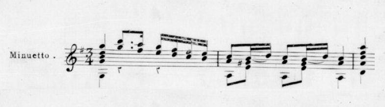 Menuets Composés pour la Guitare par D.n Fernando Sors' (Journal de Musique Étrangère)